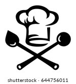 chef's hat  cooking spoon | Shutterstock .eps vector #644756011