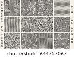 collection of striped seamless... | Shutterstock .eps vector #644757067