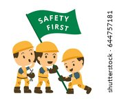 character construction working... | Shutterstock .eps vector #644757181