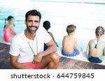 portrait of happy male... | Shutterstock . vector #644759845