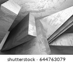 abstract geometric concrete... | Shutterstock . vector #644763079