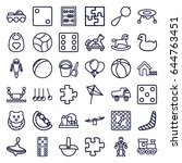 toy icons set. set of 36 toy...   Shutterstock .eps vector #644763451