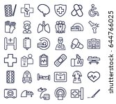 hospital icons set. set of 36... | Shutterstock .eps vector #644766025