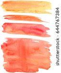 Red orange and yellow watercolor strokes vector