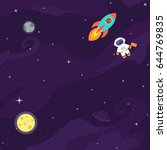 Space Flat Vector Background...