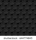 seamless black upholstery... | Shutterstock .eps vector #644774845