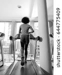 afro american woman running on...   Shutterstock . vector #644775409