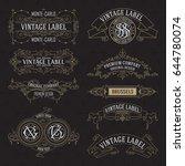 old vintage floral elements  ...   Shutterstock .eps vector #644780074