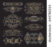 old vintage floral elements  ... | Shutterstock .eps vector #644780314