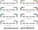 vector set  calligraphic design ... | Shutterstock .eps vector #644780335