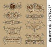 old vintage floral elements  ... | Shutterstock .eps vector #644782297