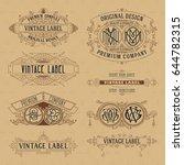 old vintage floral elements  ... | Shutterstock .eps vector #644782315