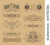 old vintage floral elements  ... | Shutterstock .eps vector #644782381