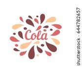 cola color splash juice... | Shutterstock .eps vector #644782657