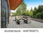 contemporary deck features a... | Shutterstock . vector #644783071