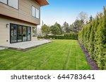 bellevue modern home  back yard.... | Shutterstock . vector #644783641