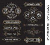 old vintage floral elements  ... | Shutterstock .eps vector #644786227