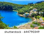 view of a shore in corfu  greece | Shutterstock . vector #644790349