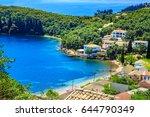 view of a shore in corfu  greece | Shutterstock . vector #644790349