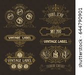 old vintage floral elements  ... | Shutterstock .eps vector #644790901