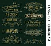 old vintage floral elements  ... | Shutterstock .eps vector #644790961