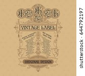 old vintage card with floral... | Shutterstock .eps vector #644792197