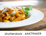 photo of pasta with whisky... | Shutterstock . vector #644794459