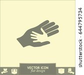 helping hands. vector... | Shutterstock .eps vector #644795734