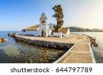 vlacherna monastery in kerkyra... | Shutterstock . vector #644797789