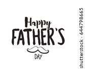 happy father's day typographic... | Shutterstock .eps vector #644798665