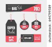 unique sale tags | Shutterstock .eps vector #644799589