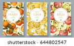 vector fruit vertical banners... | Shutterstock .eps vector #644802547