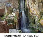 Waterfall In Winter In Chinese...