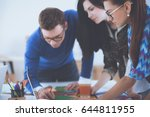 young business people working... | Shutterstock . vector #644811955