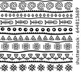 seamless pattern in ethnic... | Shutterstock .eps vector #644813689