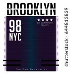 brooklyn typography  t shirt... | Shutterstock .eps vector #644813839