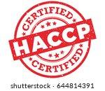haccp certified rubber stamp.... | Shutterstock .eps vector #644814391