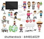 cartoon business and holiday... | Shutterstock .eps vector #644816029