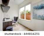 light small home office... | Shutterstock . vector #644816251