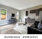family room design with wet bar ... | Shutterstock . vector #644816311
