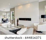 contemporary style living room... | Shutterstock . vector #644816371