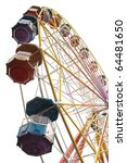 Ferris wheel on a white background - stock photo