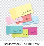 set of stickers with shadow... | Shutterstock .eps vector #644818249
