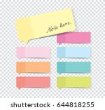 set of stickers with shadow... | Shutterstock .eps vector #644818255