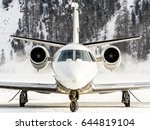 private aircraft just landed.... | Shutterstock . vector #644819104