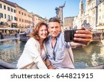 senior couple at navona square  ... | Shutterstock . vector #644821915