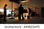 blurred production team... | Shutterstock . vector #644822695