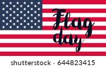 american flag day banner and... | Shutterstock .eps vector #644823415