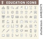 set of school and education... | Shutterstock .eps vector #644823475