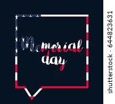 memorial day banner with... | Shutterstock .eps vector #644823631